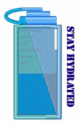 Stay Hydrated embroidery design