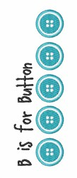 B For Button embroidery design