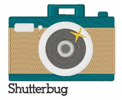 Shutterbug embroidery design