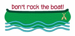 Dont Rock Boat embroidery design