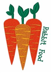 Rabbit Food embroidery design