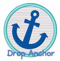 Drop Anchor embroidery design