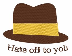 Hats Off To You embroidery design