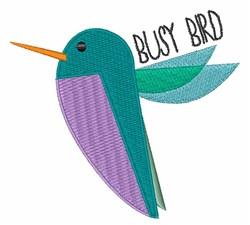 Busy Bird embroidery design