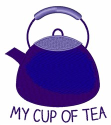 My Cup Of Tea embroidery design
