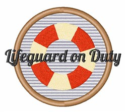 Lifeguard On Duty embroidery design