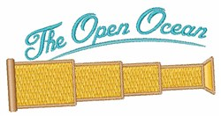 The Open Ocean embroidery design