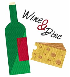 Wine And Dine embroidery design
