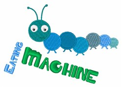 Eating Machine embroidery design