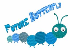 Future Butterfly embroidery design