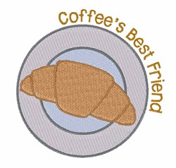 Coffees Best Friend embroidery design