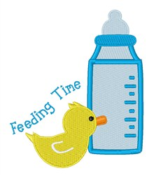 Feeding Time embroidery design