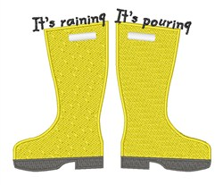 Raining Pouring embroidery design