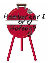Hamburger or Hotdog embroidery design
