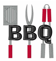 BBQ Utensils embroidery design