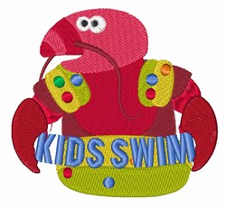 Kids Swim embroidery design