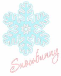 Snowbunny embroidery design