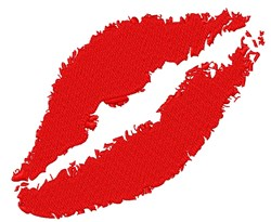 Lips embroidery design