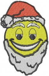 Smiley Santa Claus embroidery design
