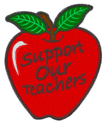 Teacher Apple embroidery design