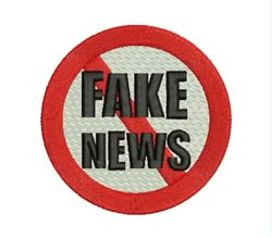 Fake News embroidery design
