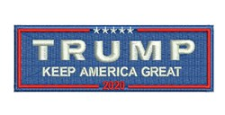 Trump Keep America Great embroidery design