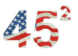 Trump 45 Squared embroidery design