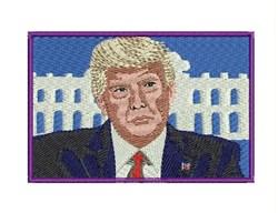 Donald Trump embroidery design