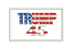 Trump 45 embroidery design