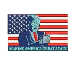 Trump Making America Great Again embroidery design