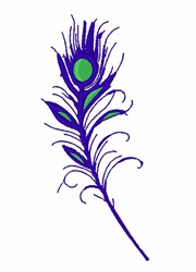 Peacock Tail Feather embroidery design
