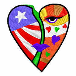 American Hearts 4 embroidery design