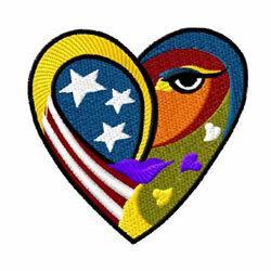 American Hearts 6 embroidery design