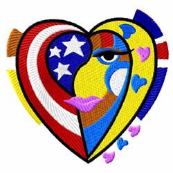 American Hearts 7 embroidery design