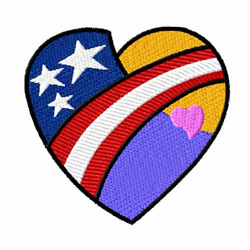 American Hearts 9 embroidery design