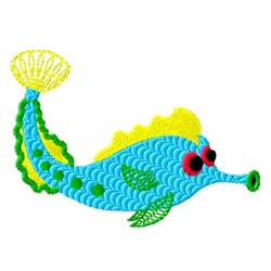 Blue Fish embroidery design