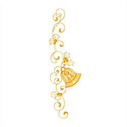 Christmas-bells-border3 embroidery design