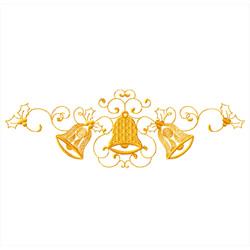 Christmas-bells-vignette1 embroidery design