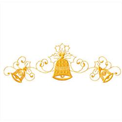 Christmas-bells-vignette2 embroidery design