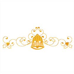 Christmas-bells-vignette3 embroidery design