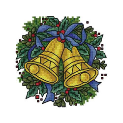 Christmas-bells embroidery design