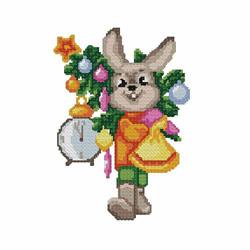 Christmas-bunny1 embroidery design
