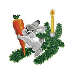 Christmas-bunny2 embroidery design