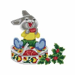 Christmas-bunny3 embroidery design