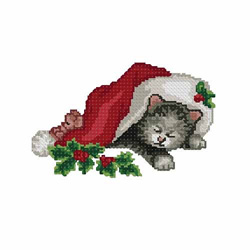 Christmas-cat1 embroidery design