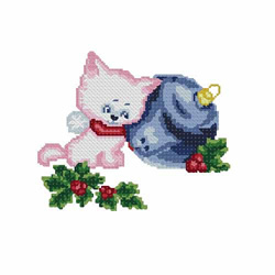 Christmas-cat2 embroidery design