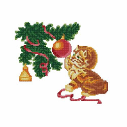 Christmas-cat3 embroidery design