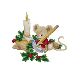Christmas-mouse embroidery design