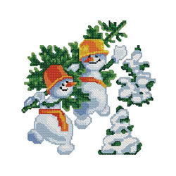 Christmas-snowman2 embroidery design