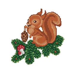 Christmas-squirrel3 embroidery design